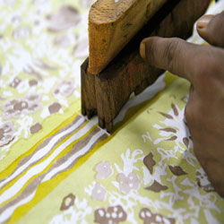 Woodblock Printed Linens