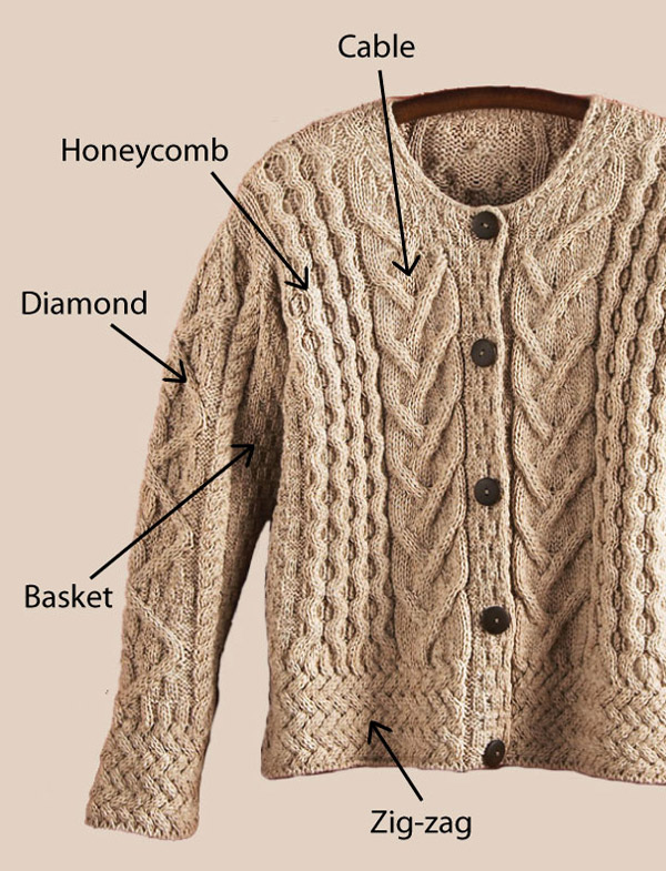 Irish Cable Wool Sweater 87