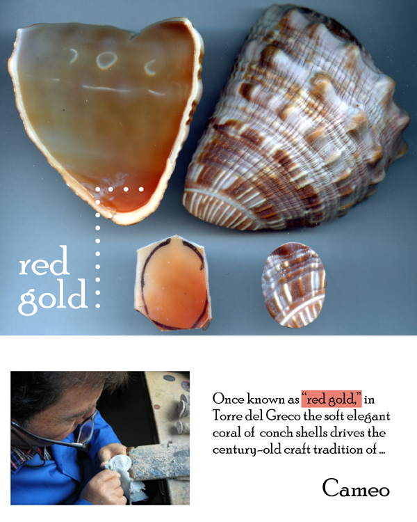 Cameo Jewelry from the Italian town of Torre del Greco