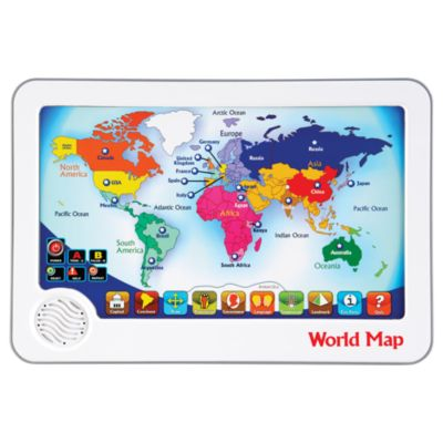 world map interactive touch pad toy