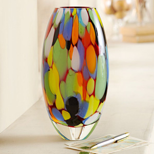 Brazilian Carnival Art Glass Vase