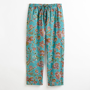 Lightweight Floral Cropped Pants