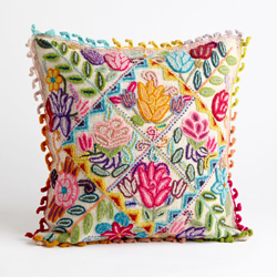 Peruvian Floral Pillow